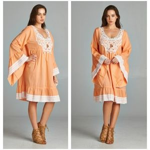 Yummy Peach Regular + Plus Size Tunic/Dress